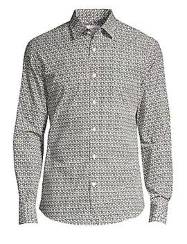 Gancini Cotton Button Down Shirt by Salvatore Ferragamo