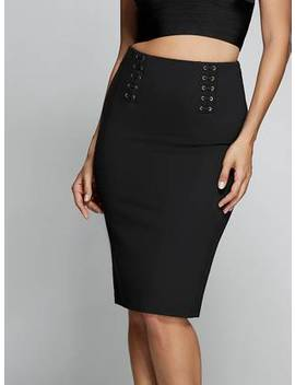Daisi Lace Up Pencil Skirt by Guess