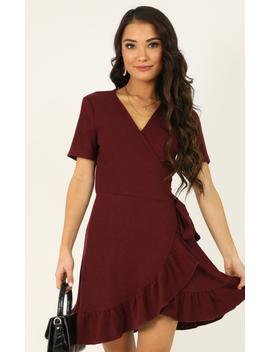 This Is Happening Dress In Wine by Showpo Fashion