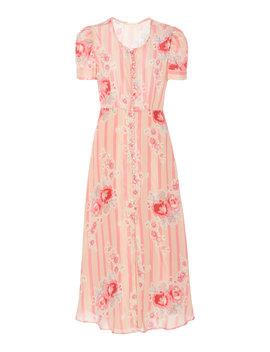 Patrice Silk Dress by Love Shack Fancy