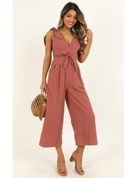 Endless Circling Jumpsuit In Dusty Rose by Showpo Fashion