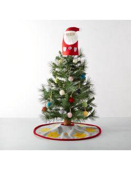 Whimsy Santa Mini Christmas Tree Set by Crate&Barrel