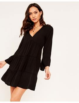 Tiered V Neck Dress by Glassons