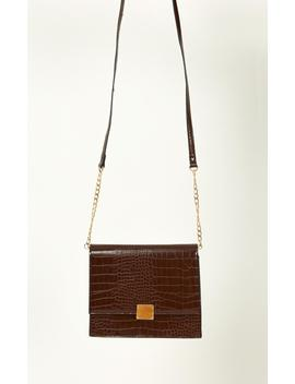 Fresh Eyes Bag In Chocolate And Gold by Showpo Fashion