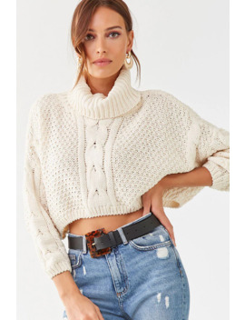 Chenille Cropped Sweater by Forever 21