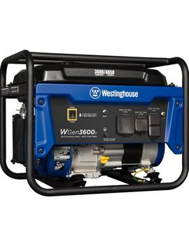 4,650/3,600 Watt Gasoline Powered Rv Ready Portable Generator With Automatic Low Oil Shutdown by Westinghouse
