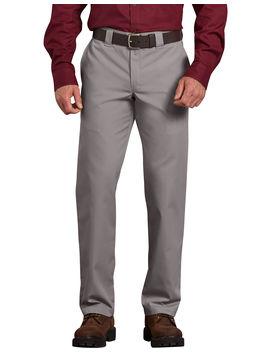 Slim Fit Straight Leg Poplin Work Pants by Dickies
