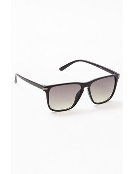 Pac Sun Black Varsity Sunglasses by Pacsun