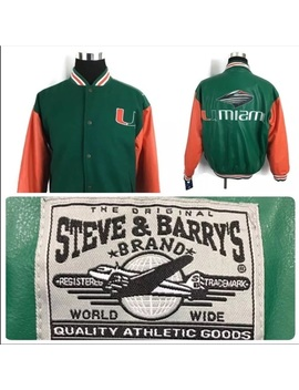 Steve & Barry Varsity Jacket University Of Miami Mnwt/New by Steve & Barry's