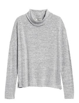 Luxespun Boxy Cropped T Shirt by Banana Repbulic
