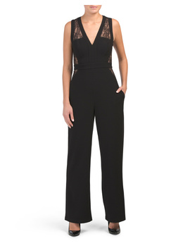 Tegan Lace Blocked Jumpsuit by Tj Maxx