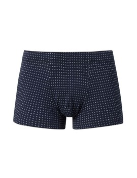 Men's Stretch Cotton Trunks In Navy Circle by Sunspel