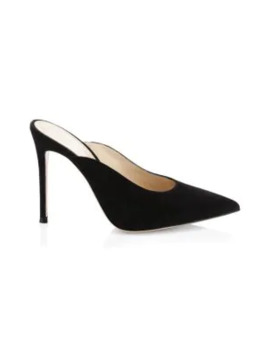 Fanny Suede Point Toe Mules by Gianvito Rossi