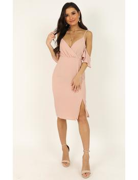 When I Fall In Love Dress In Blush by Showpo Fashion