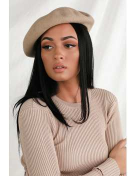Audrey Taupe Wool Beret by Brixton
