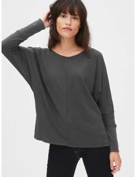 Soft Slub Dolman Sleeve Boatneck T Shirt by Gap