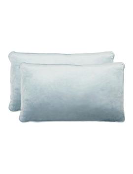 Jean Pierre Lucas Lumbar Velvet 2 Piece Throw Pillow Set   Harbor Blue by Jean Pierre