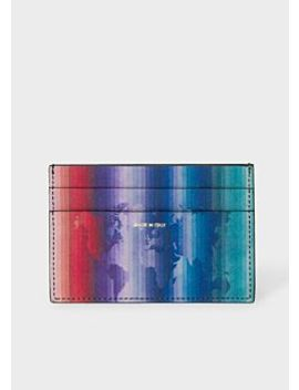 Men's 'rainbow Map' Leather Credit Card Holder by Paul Smith