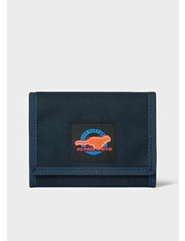 Men's Navy 'live Faster' Patch Tri Fold Wallet by Paul Smith