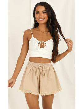 Dont Foul Me Shorts In Beige by Showpo Fashion