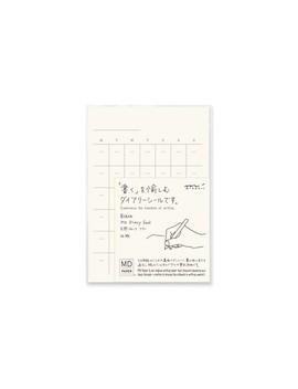 Midori   Md Diary Stickers   Undated   White by Midori
