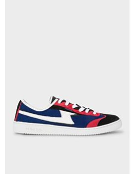 Men's Navy Suede And Mesh 'ziggy' Trainers by Paul Smith