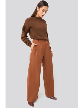Flowy Tailored Pants Bruin by Hannaweigxnakd