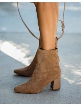 Colby Faux Suede Heeled Bootie by Vici