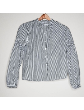 Sincerely Jules Stripe Long Sleeve Button Blouse by Sincerly Jules