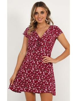 Everybody Knows Her Dress In Wine Floral by Showpo Fashion