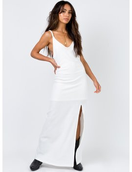 Minkpink Athena Maxi Dress White by Minkpink