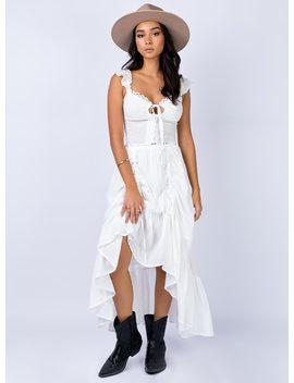 Ennis Midi Skirt White by Princess Polly