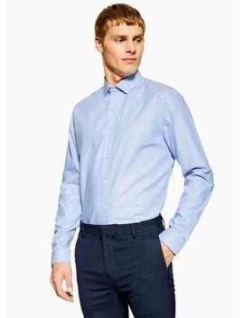 Blue Polka Dot Slim Shirt by Topman