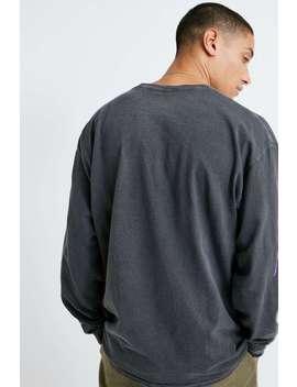 Urban Outfitters –  Langärmeliges, Verwaschenes T Shirt In Schwarz Und Limettengrün Im Comic Look by Urban Outfitters Shoppen