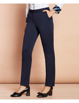 Slim Fit Stretch Wool Pants by Brooks Brothers