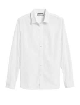 Heritage Slim Fit Luxe Poplin Shirt by Banana Repbulic