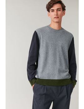 Colour Block Merino Yak Jumper by Cos
