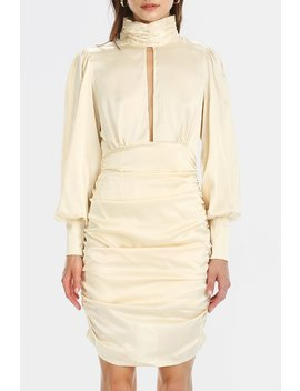 Quinn Cut Out Front Satin Dress by Storets