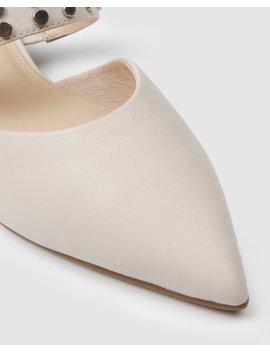 Cate Dress Flats Bone Leather by Jo Mercer