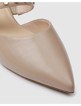 Cate Dress Flats Beige Leather by Jo Mercer