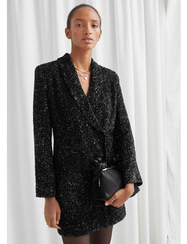 Sequin Double Breasted Blazer Dress by & Other Stories