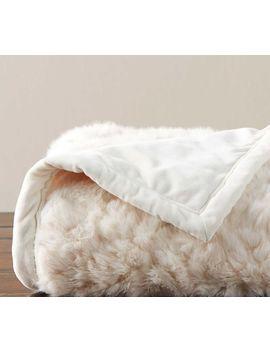 Faux Fur Wavy Alpaca Throw by Pottery Barn