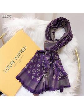 7colors Designer Woman Soft Lamé Scarf Luxury Four Seasons Style Silk And Cotton Scarf Long Shawl Printed Best Selling Classic Size180 70 by D Hgate.Com