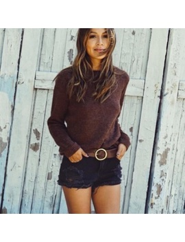 Sincerely Jules Black Distressed Cutoffs by Sincerly Jules