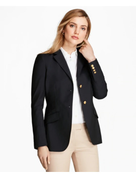Loro Piana® Two Button Wool Blazer by Brooks Brothers