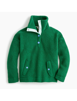 Snap Collar Sweatshirt In Polartec® Fleece by Snap Collar Sweatshirt In Polartec