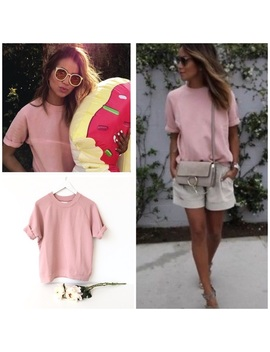 Sincerely Jules Clara Pink Short Sleeves Sweater S by Sincerly Jules