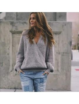 Free People Karina Faux Wrap Sweater by Free People