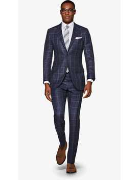 Lazio Navy Windowpane Suit by Suitsupply