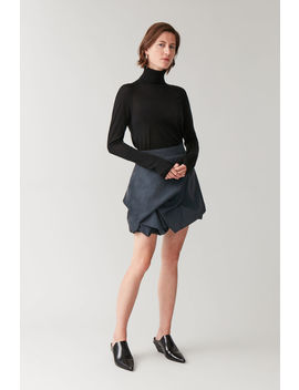 Gathered Mini Skirt by Cos